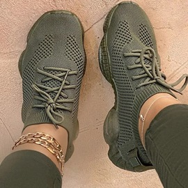 Ericdress Low-Cut Upper Round Toe Lace-Up Plain Mesh Sneakers