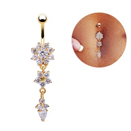 Ericdress Romantic Metal Waist Women's Belly Ring