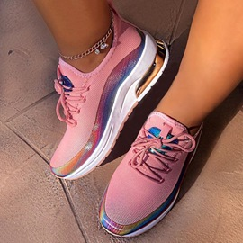 Ericdress Lace-Up Low-Cut Upper Round Toe Color Block Sneakers