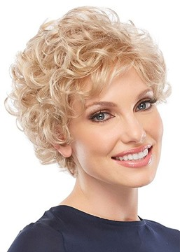 Ericdress Classic Look Women's Ultra-lightweight 613 Blonde Short Curly Human Hair Lace Front Wigs 6Inch