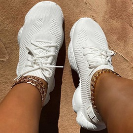 Ericdress Low-Cut Upper Lace-Up Round Toe Plain Mesh Sneakers