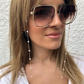 Ericdress Women Fashion Simple Beaded Water Drop Glasses Chain Hanging Neck Non-slip Glasses Rope