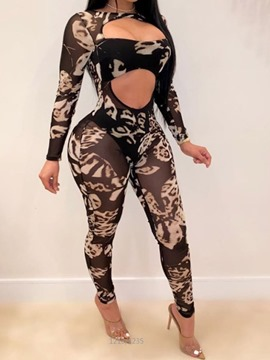 Ericdress Print Sexy Jumpsuit Pencil Pants Pullover Women's Two Piece Sets