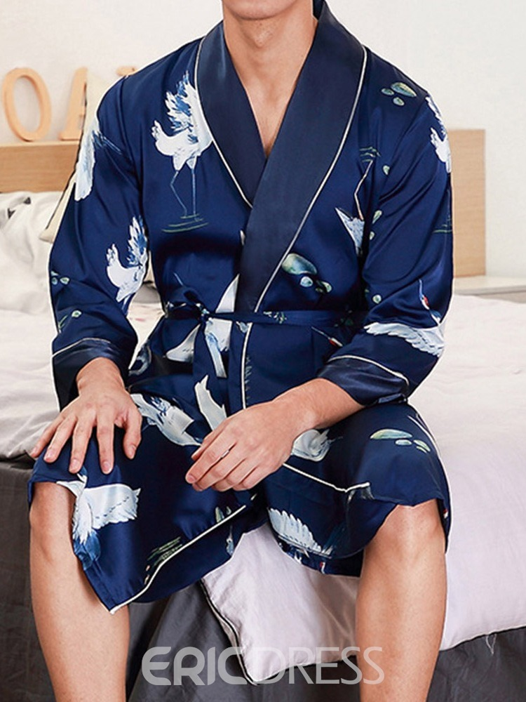 Ericdress Long Sleeve Mid-Length Polyester Night-Robes