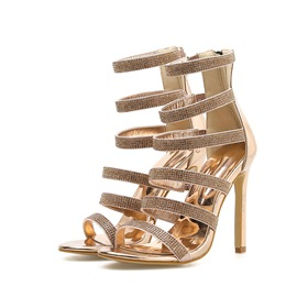 Ericdress Zipper Stiletto Heel Heel Covering Plain Sandals