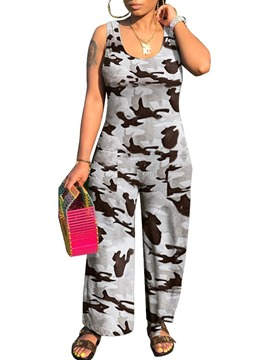Ericdress Print Camouflage Western Loose Jumpsuit