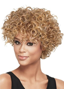 Ericdress 100% Human Hair Wigs For African American Women's Short Curly Lace Front Wigs 10Inch