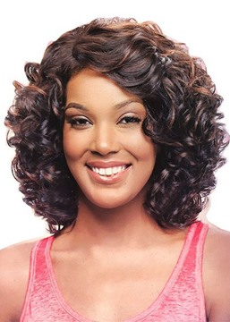 Ericdress Women's Naturally Curly Hairstyles Kinky Curly Synthetic Hair Capless Wigs 16Inch