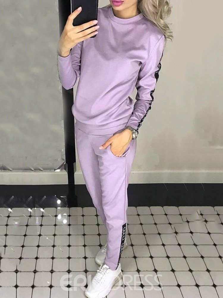 Ericdress Cotton Blends Pullover Full Length Clothing Sets