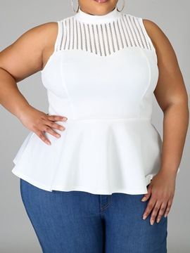 Ericdress Plus Size Patchwork Spandex I-Shaped Standard Tank Top