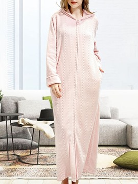 Ericdress Plain Single-Breasted Single Polyester Regular Night-Robes
