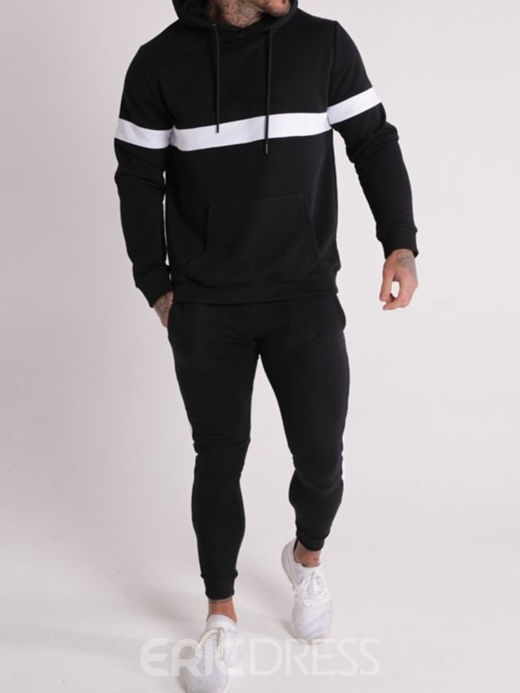 Ericdress Casual Hoodie Men's Outfit
