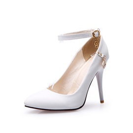 Ericdress Stiletto Heel Pointed Toe Line-Style Buckle Casual Thin Shoes