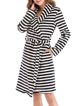 Ericdress Single Lace-Up Print Polyester Simple Night-Robes