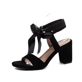 Ericdress Open Toe Lace-Up Chunky Heel Casual Sandals