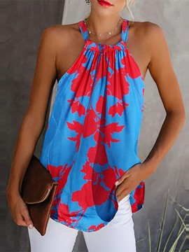 Ericdress Summer Polyester Print Mid-Length Tank Top