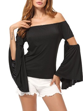 Ericdress Standard Off Shoulder Long Sleeve Casual T-Shirt