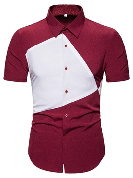 Ericdress Casual Color Block Single-Breasted Shirt