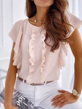 Ericdress Round Neck Standard Short Sleeve Blouse