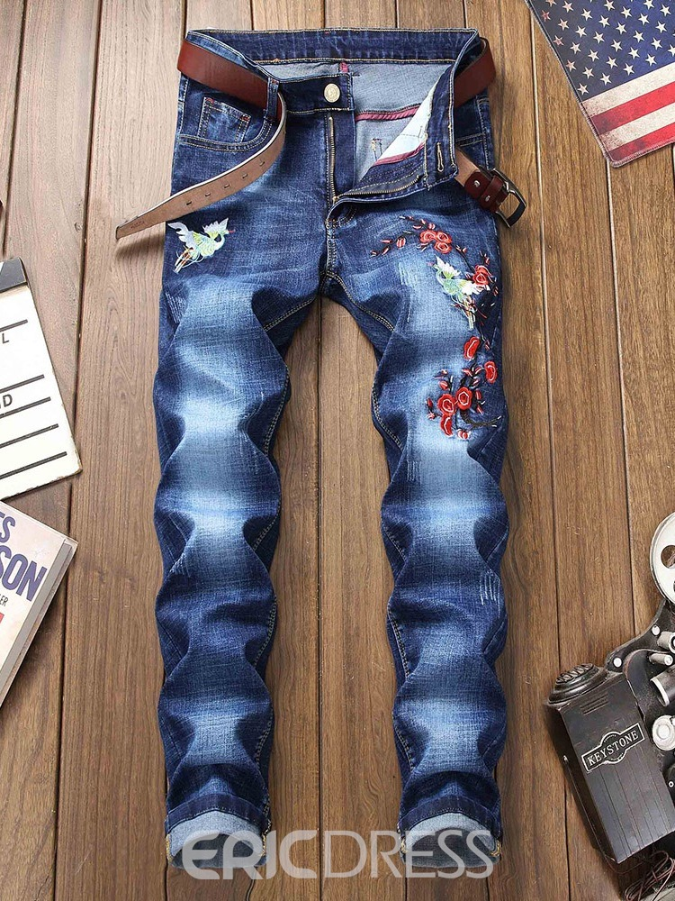 Ericdress Men's Slim Denim Casual Jeans