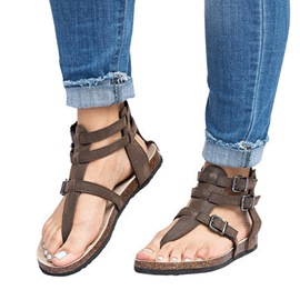 Ericdress Flat With Thong Buckle Plain Sandals