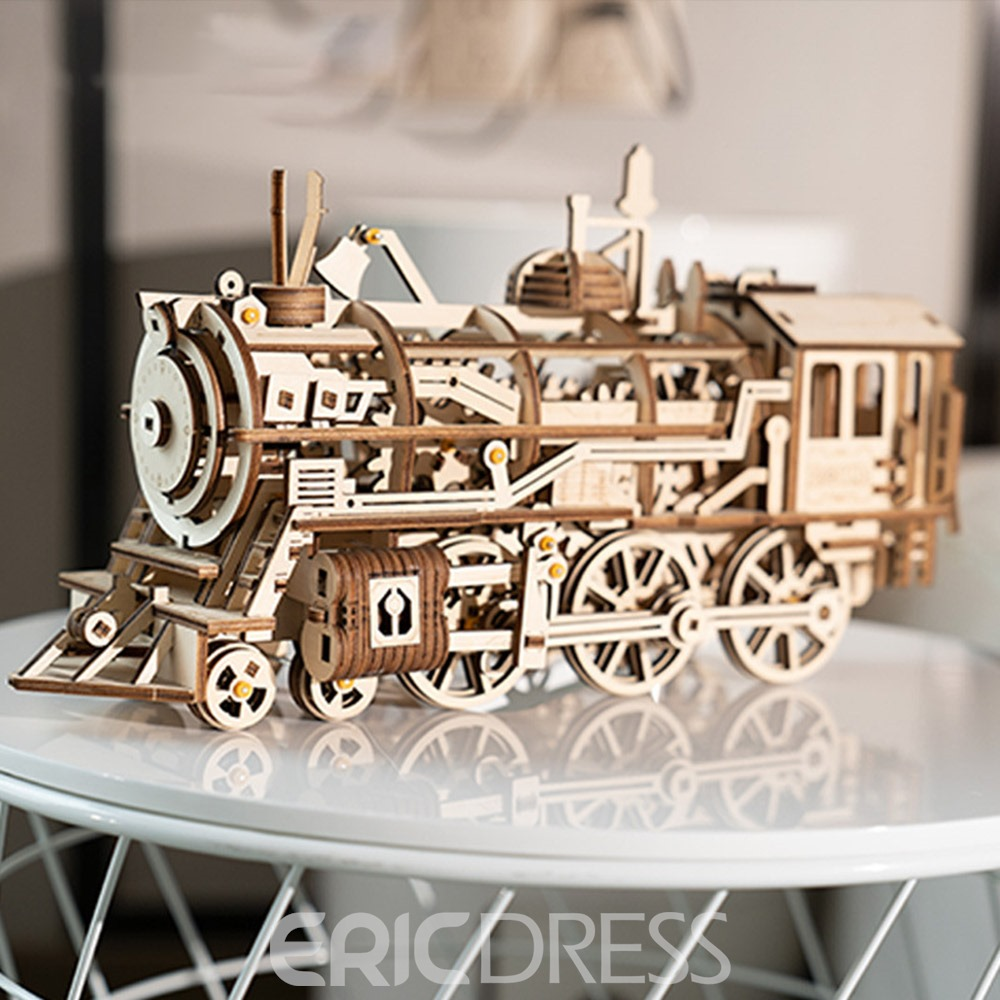 Ericdress Puzzle Locomotive Model