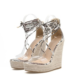 Ericdress Open Toe Heel Covering Wedge Heel Casual Sandals