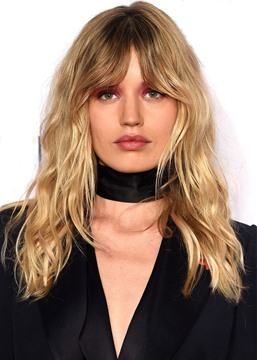 Ericdress Women's Long Layered Haircuts with Bangs Wavy Human Hair Wigs Lace Front Cap Wigs 20Inch