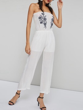 Ericdress Ankle Length Embroidery Casual Loose Jumpsuit