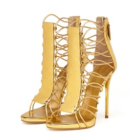 Ericdress Stiletto Heel Zipper Heel Covering Plain Sandals