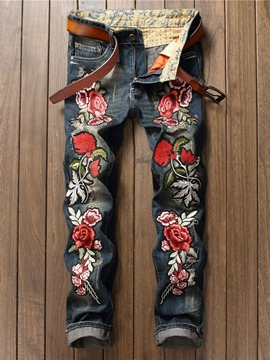 Ericdress Embroidery European Jeans