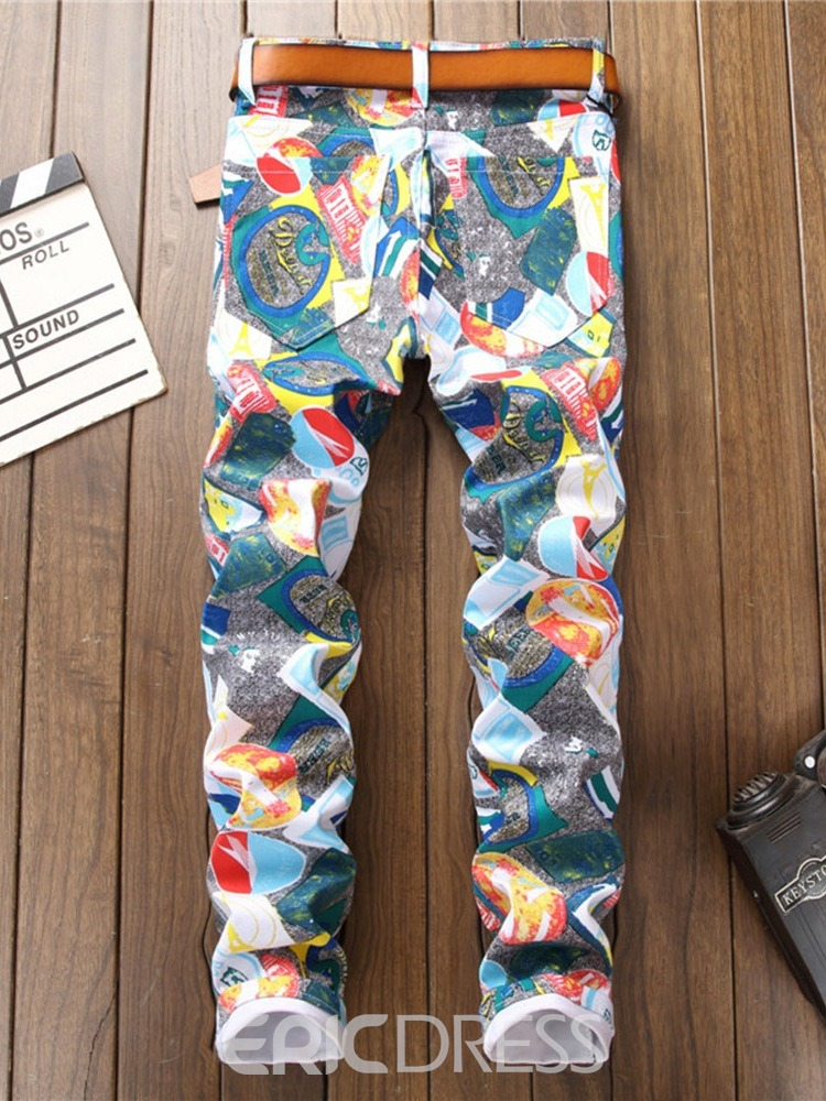 Ericdress Print Casual Jeans
