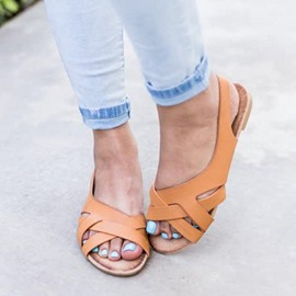 Ericdress Flat With Slip-On Open Toe Low-Cut Upper Sandals