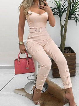 Ericdress Western Belt Ankle Length Slim Jumpsuit