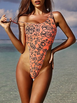 Ericdress Connection Printing One Piece Swimwear