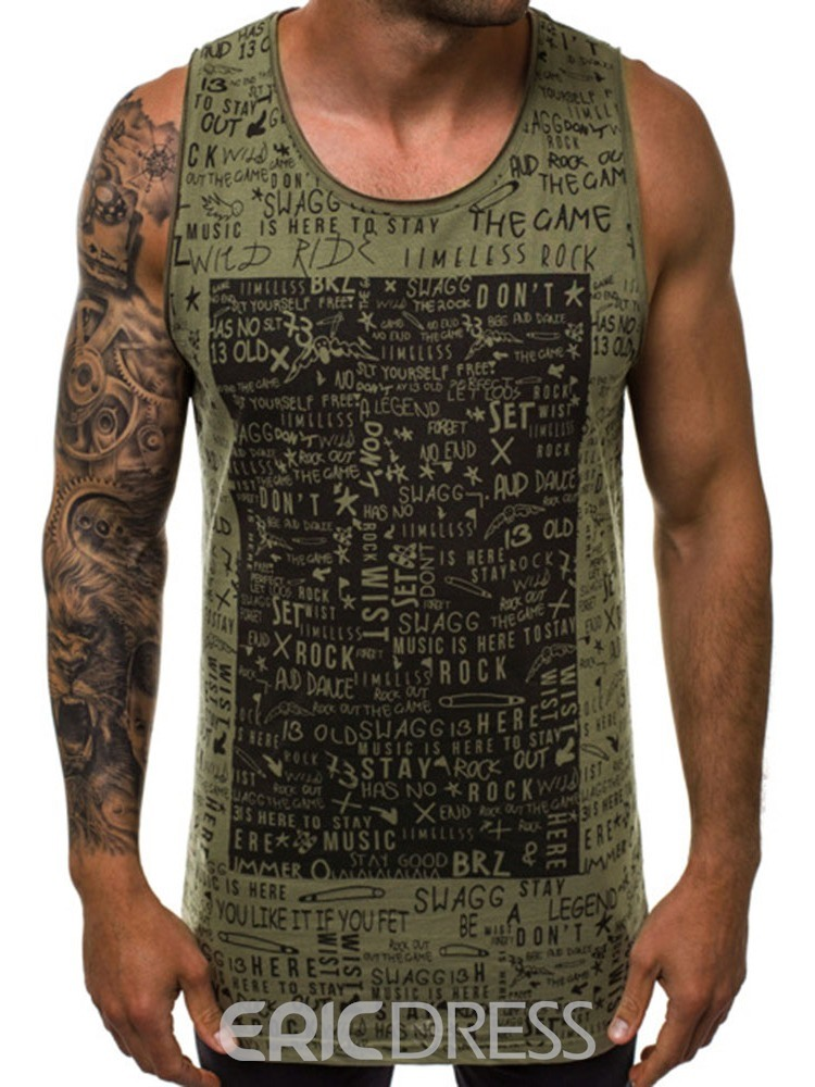 Ericdress Loose Letter Casual Vest
