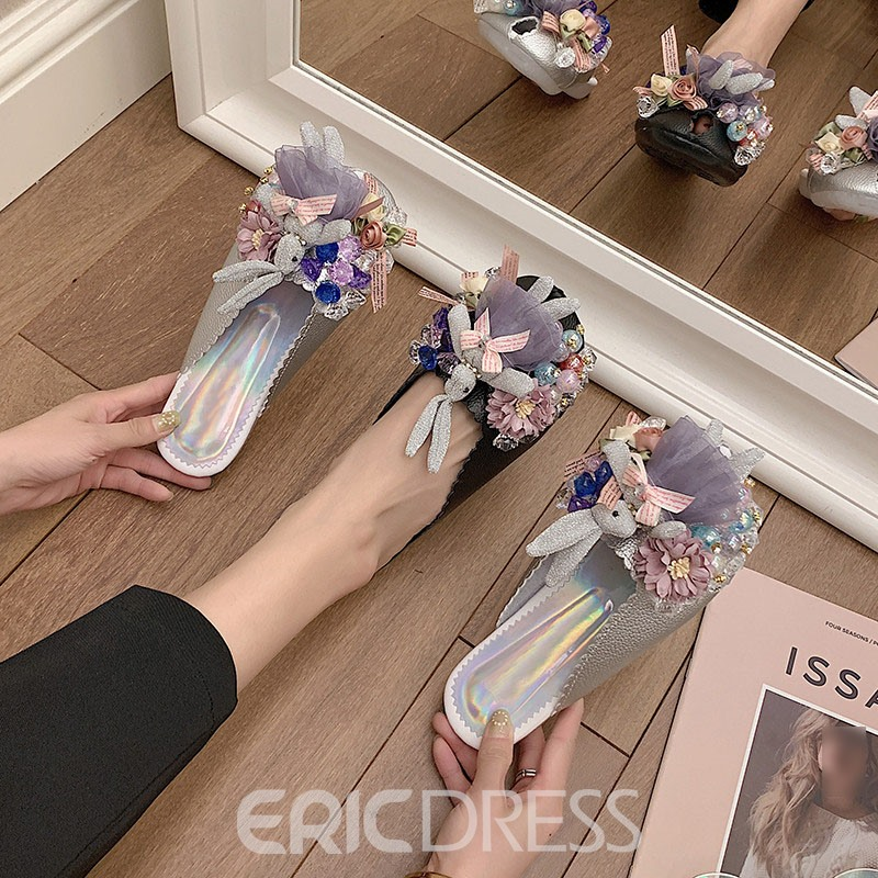 Ericdress Flat With Buckle Closed Toe Summer Slippers