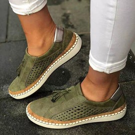 Ericdress Flat With Round Toe Fringe Casual Thin Shoes