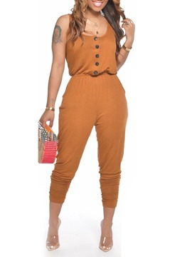Ericdress Plain Full Length Western Women's Jumpsuit