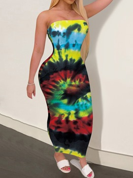 Ericdress Ankle-Length Sleeveless Tie-Dye Pullover Casual Dress