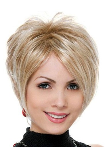 Ericdress Natural Looking Women's Side Part Straight Synthetic Hair Wigs Short Layered Hairstyle Capless Wigs 8Inch