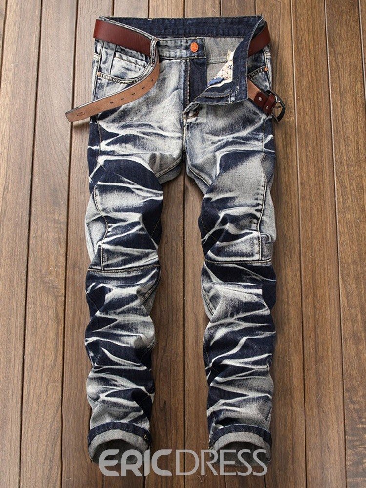 Ericdress Fashion Straight Casual Jeans
