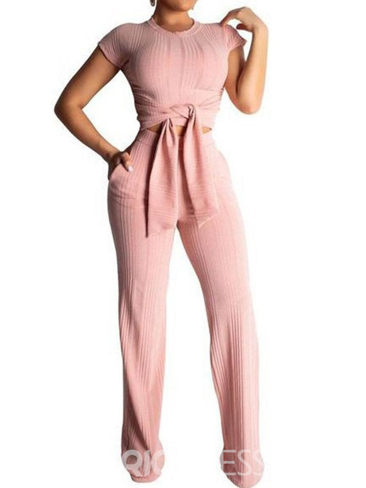 Ericdress Solid Anti-Sweat Polyester Full Length Yoga Clothing Sets