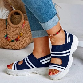 Ericdress Flat With Open Toe Slip-On Casual Sandals
