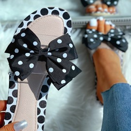 Ericdress Slip-On Flat With Bow PVC Slippers