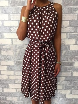 Ericdress Sleeveless Print Mid-Calf Mid Waist Casual Dress