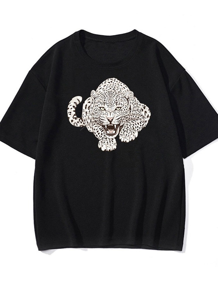Ericdress Round Neck Casual Animal Loose Pullover T-shirt