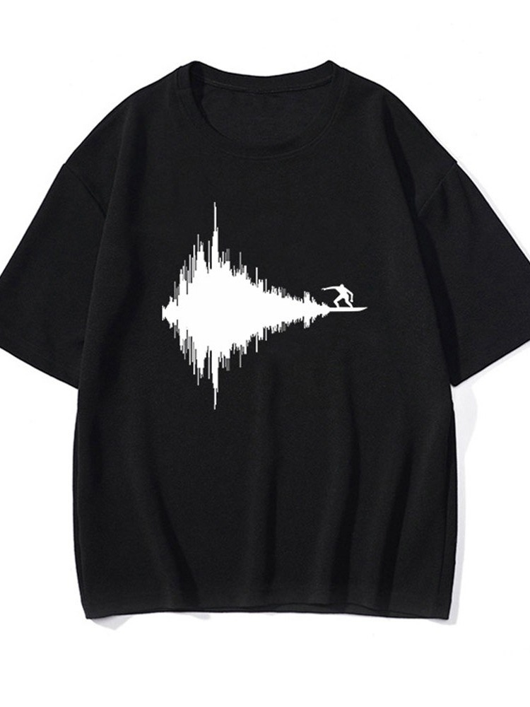 Ericdress Animal Round Neck Casual Pullover Short Sleeve T-shirt