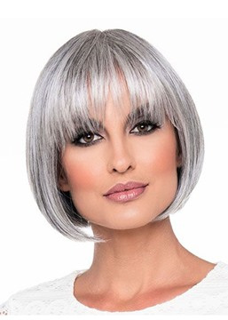 Ericdress Short Bob Hairstyles Women's Bob Style Blonde Straight Synthetic Hair Capless Wigs 8Inch