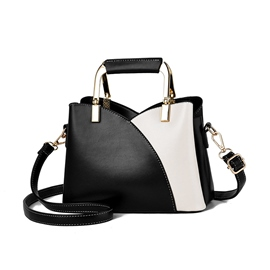 Ericdress Patchwork PU Rectangle Women's Tote Bags